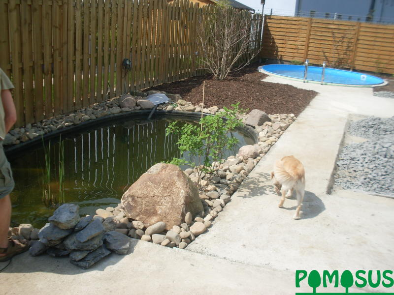 Pomosus garten und landschaftsbau kleiner garten mit for Pool kleiner garten